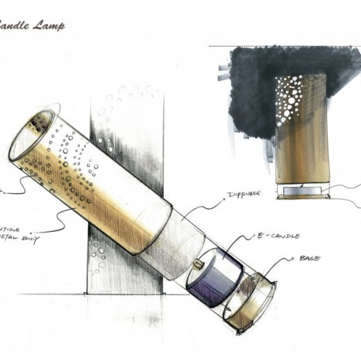 Stage 1 - Conceptual sketch for candle holder