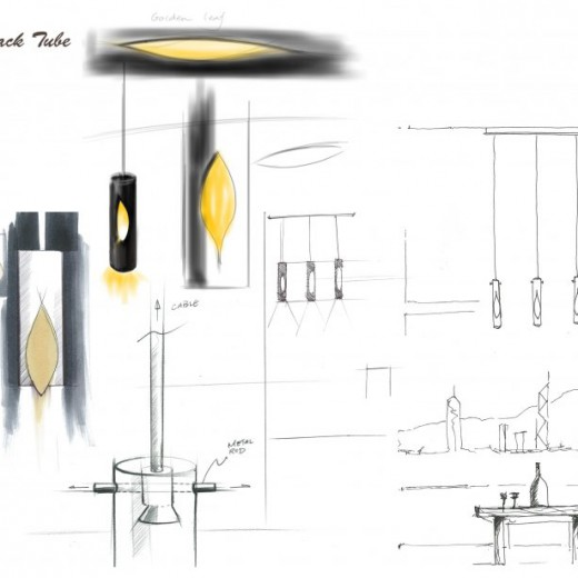 Stage 1 - Conceptual sketch for pendant at High Table Dining Area