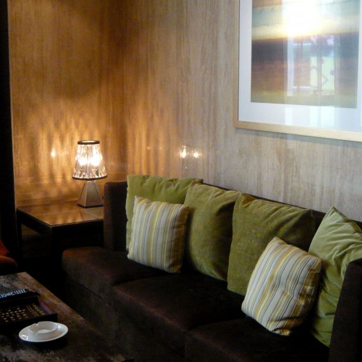 Table lamp at VIP Room Lounge