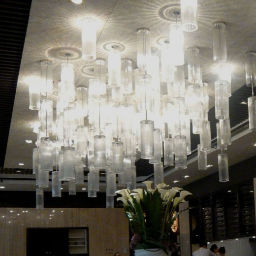 Pendant clusters at Main Dining Hall