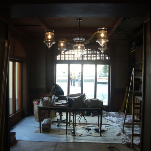 Stage 5 - Installation for pendant at VIP Room