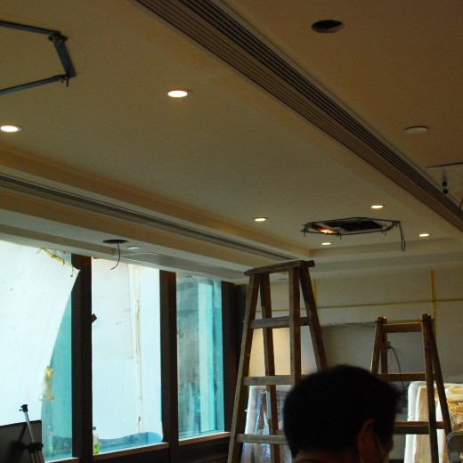 Stage 5 - Installation for ceiling lamp at Main Dining Hall