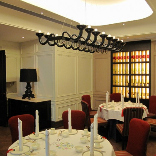 Pendant and table lamp at VIP Dining Rooms