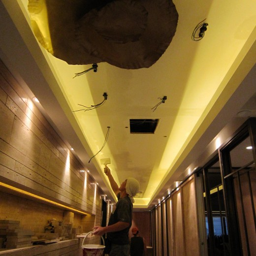 Stage 5 - Installation for ceiling lamp at Corridor