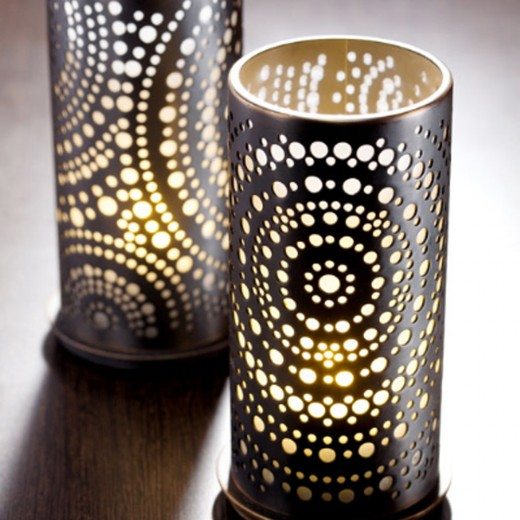 Table candle lamp at Dining Table